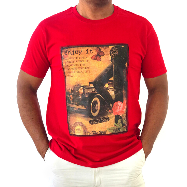 Red Vintage T-shirt from The Will Shop in Vacoas Mauritius